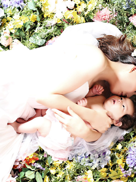 HANABATAKE with baby